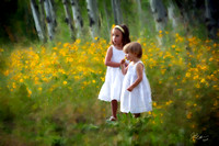 Sisters in the yellow flowers