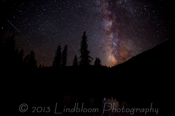 Persied Meteor shower and Milky Way