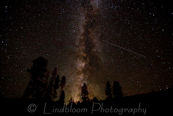Milky Way and Persied Meteor shower